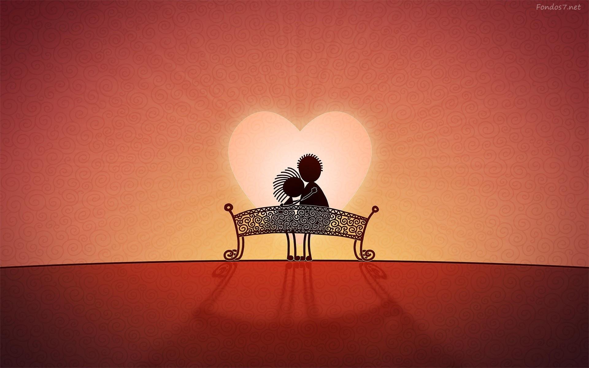 Pareja de novios con corazón de amor