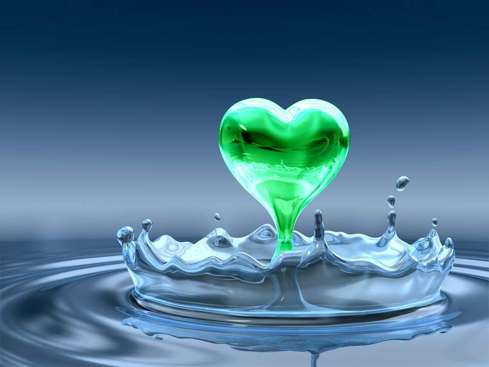 Gota en forma de corazon