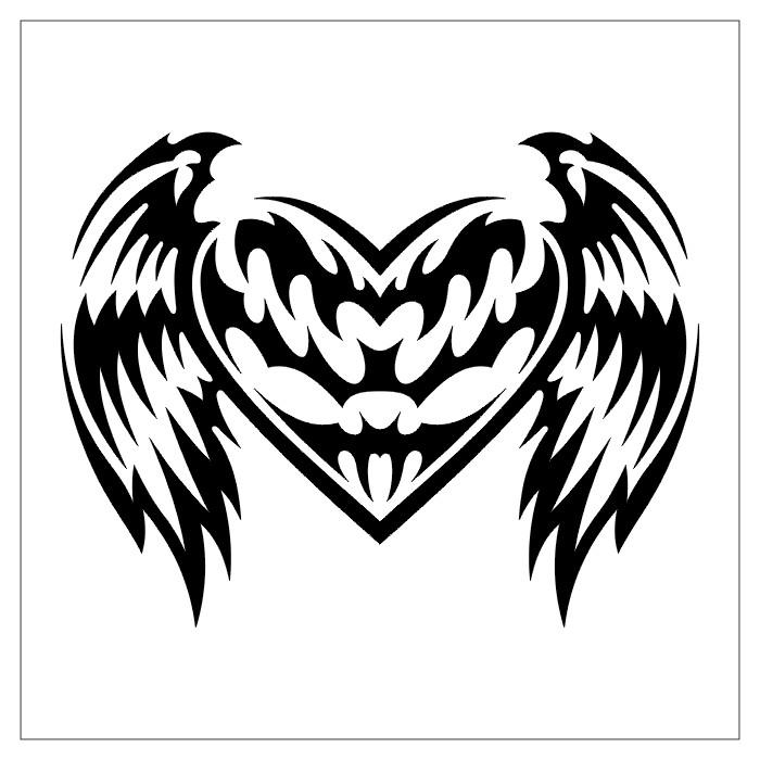 Dibujo de corazón con alas
