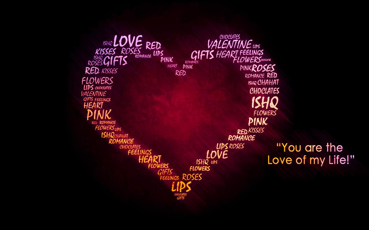Corazon de amor con frase