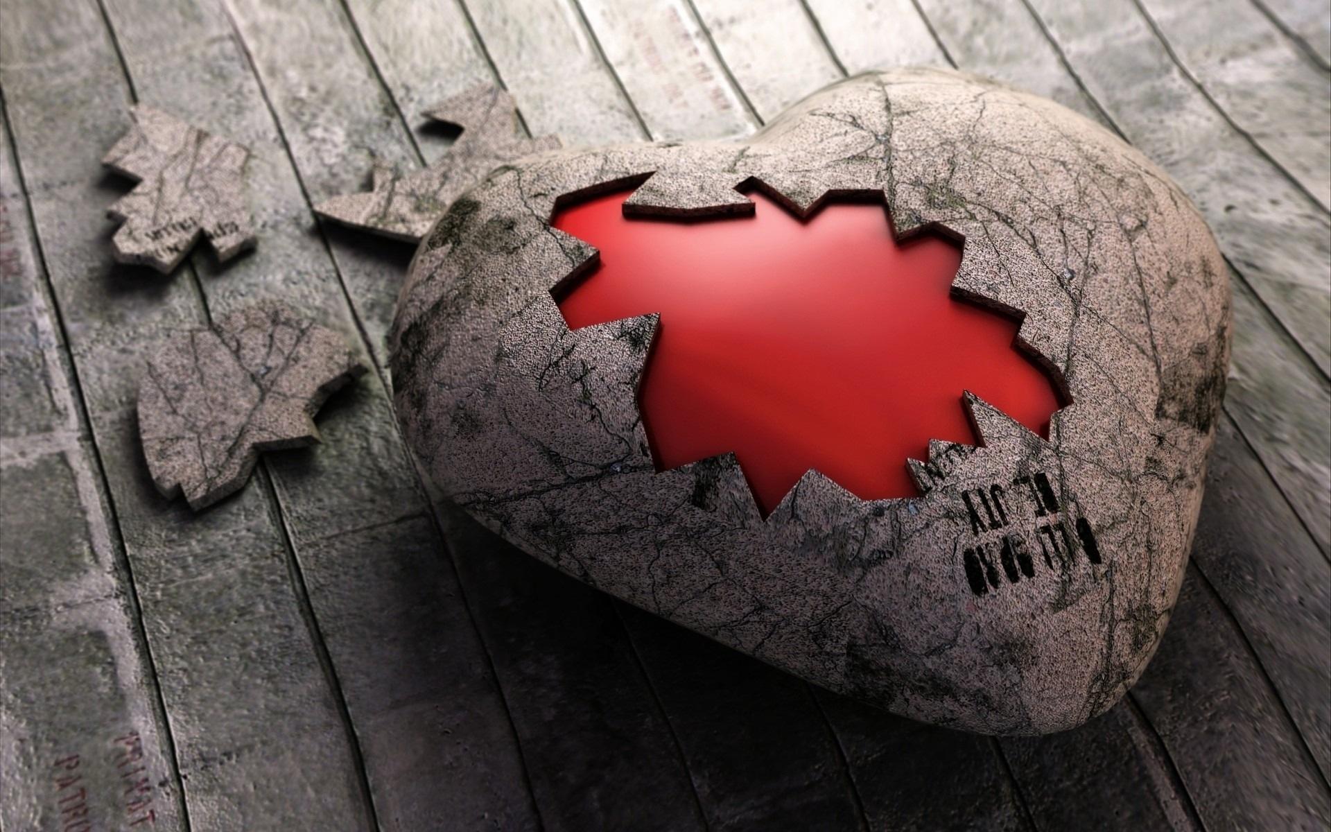 Corazon de piedra roto