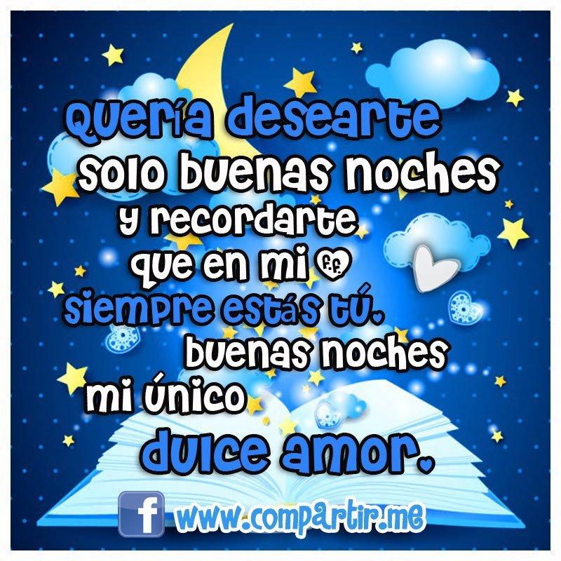 Buenas noches Dulce amor