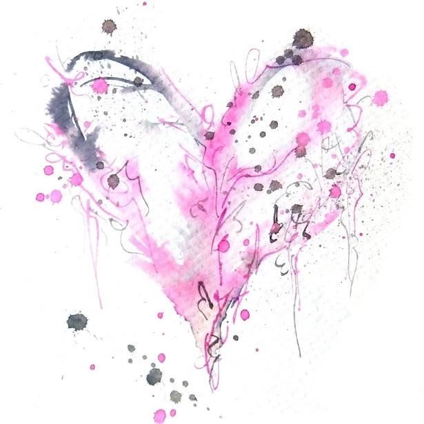 corazon abstracto de colores