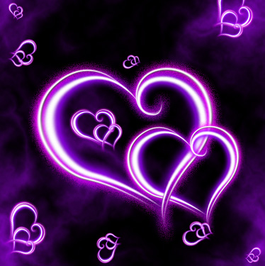 wallpaper de corazon morado