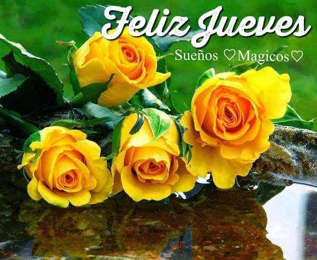 Feliz jueves con flores amarillas