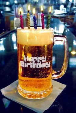 tarro de cerveza feliz cumpleaños