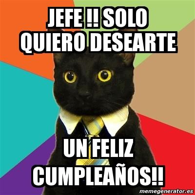 Feliz cumpleaños jefe