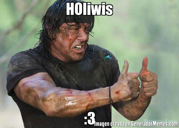 Saludo de Holiwis con rambo