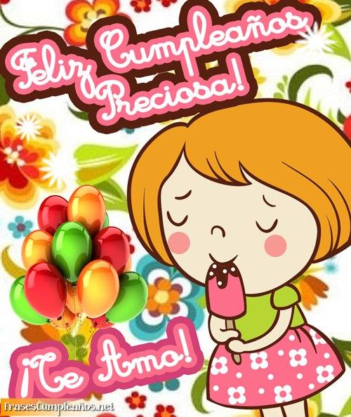 Feliz cumpleaños preciosa
