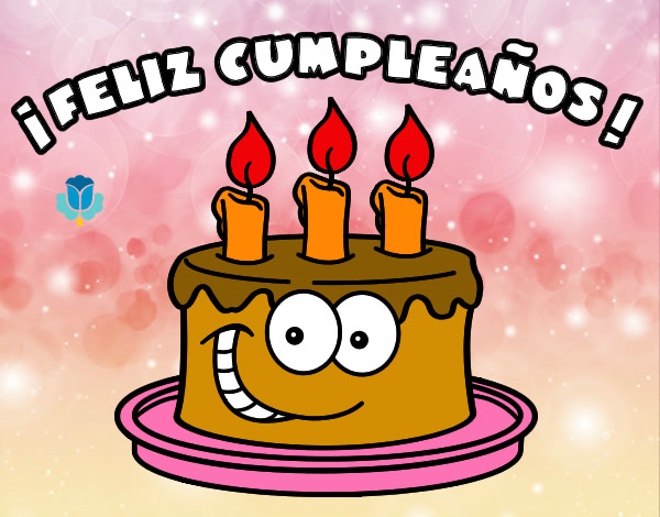 feliz cumpleaños con pastel