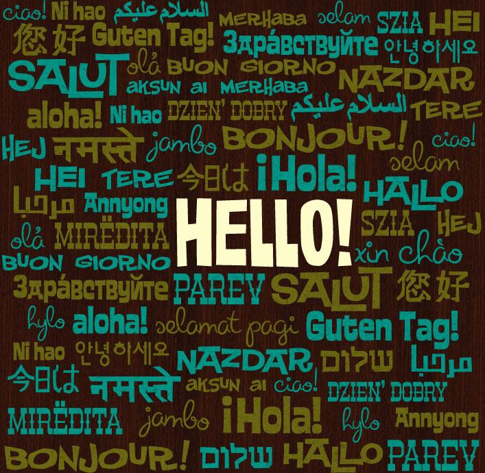 Hola en varios idiomas