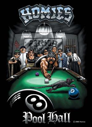 Homies jugando billar