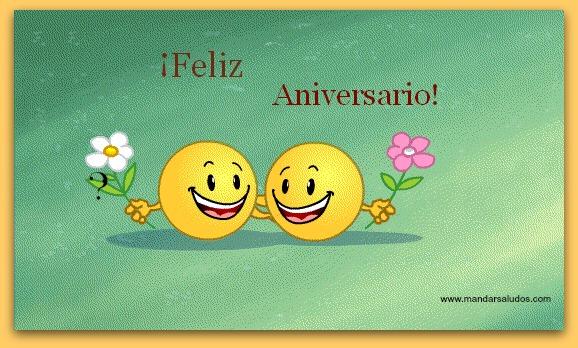 Saludo de Feliz aniversario