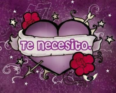 Corazon purpura con frase de amor