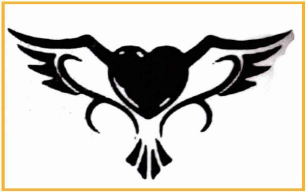 Tatto corazón con alas
