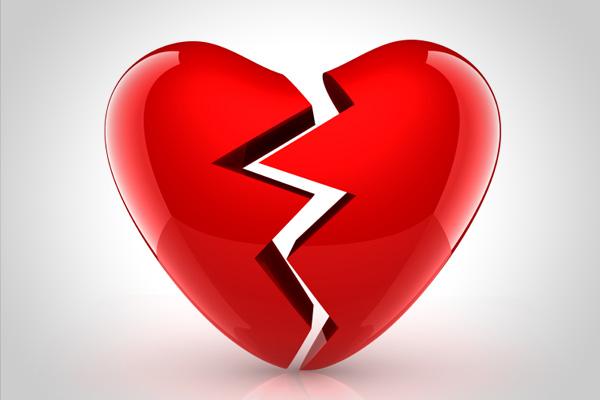Corazon roto del amor