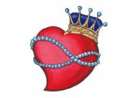 Corazon con corona y collar