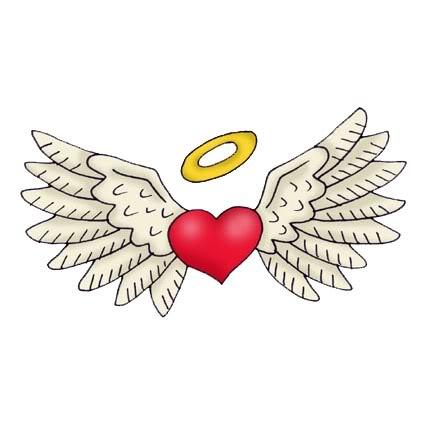 Corazon con corona y alas