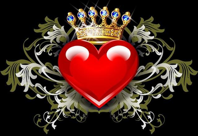 Corazon con corona de rey