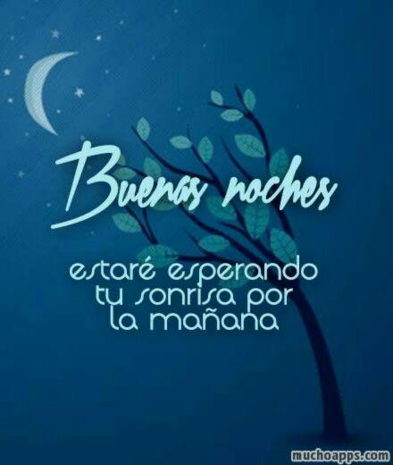 Frase romantica de buenas noches