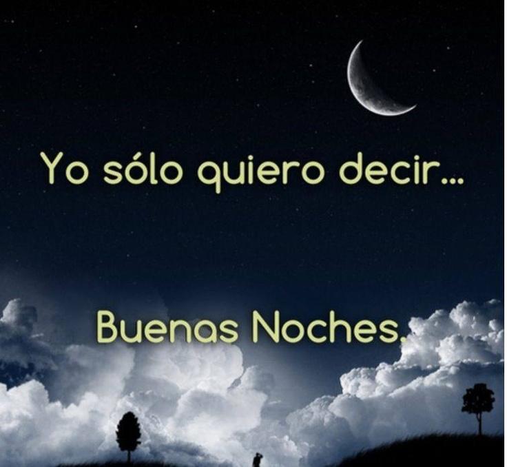Dedicar buenas noches