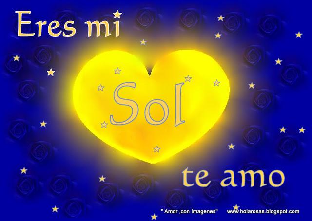Eres mi sol corazon