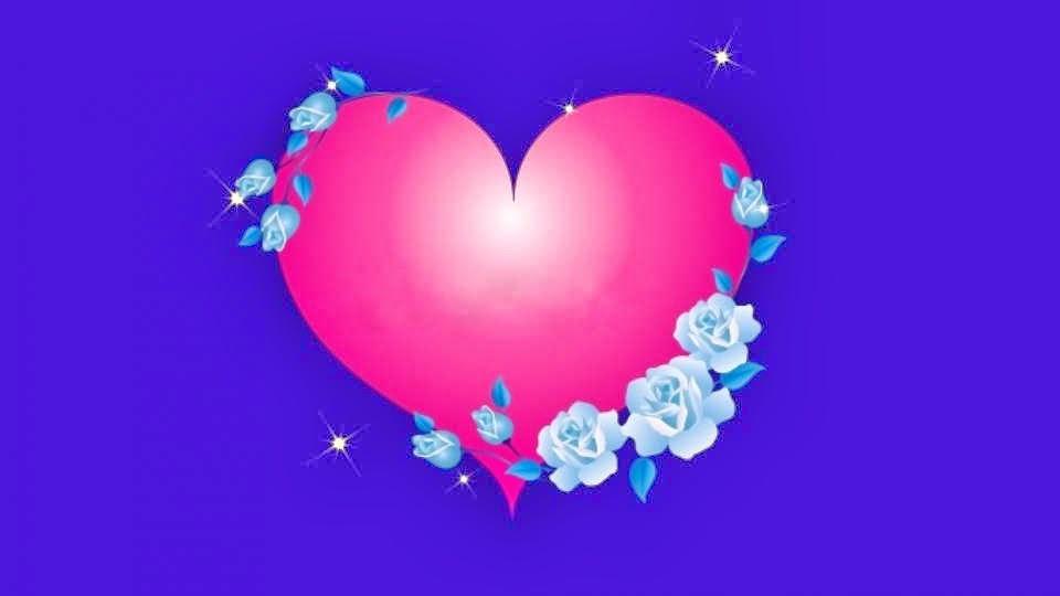 corazon rosa con flores