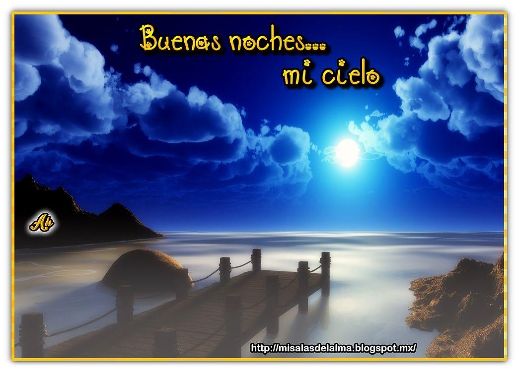 Frase de buenas noches mi cielo