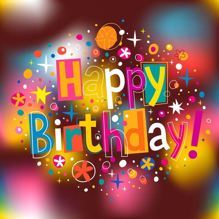 Happy birthday frase colorida