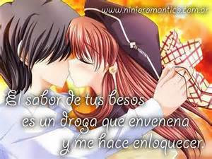 abrazo y beso anime