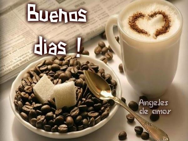 Buenos días taza de cafe