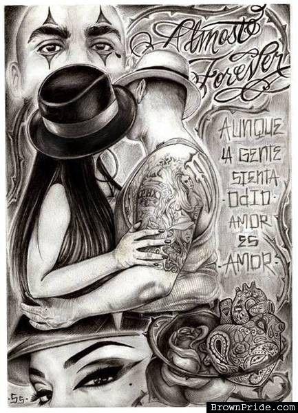 Cholos 13 enamorados besandose