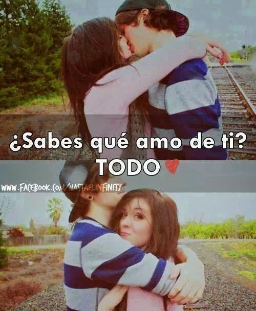 abrazo y beso de amor